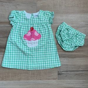 BABY BODEN dress with matching bloomers